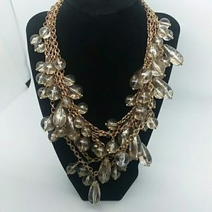 J. Crew Bulky Multistrand Gold-Tone Necklace